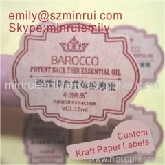brown cosmetics kraft labels