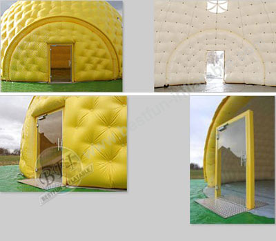 White Inflatable Dome Tent