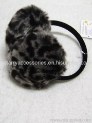 fake fur leopard ear muff