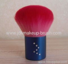 Red hair kabuki brush