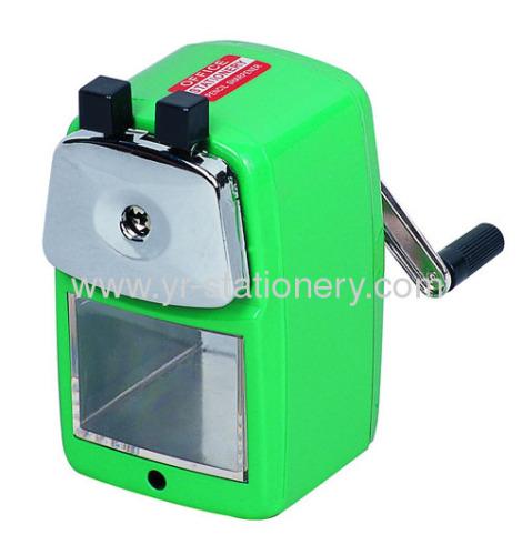Plastic manual sharpener with handle