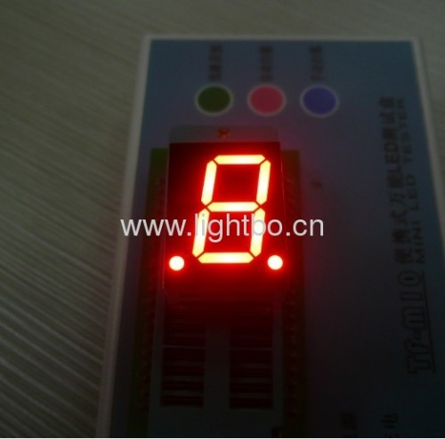 Ultra Red 0.8 inches single digit common anode numeric led displays