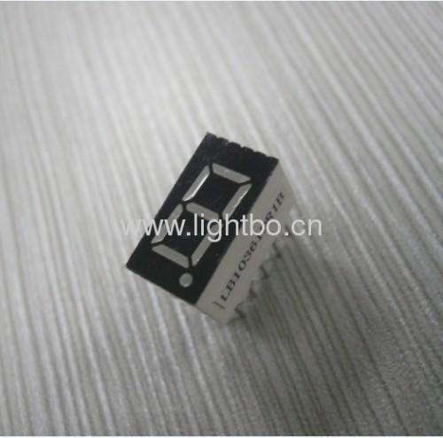 common cathode super bright red0.36 inches 1 digit 7 segment led display
