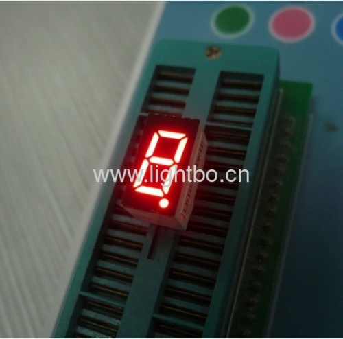 common cathode super bright red0.36 inches 1 digit 7 segment led display