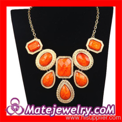 Statement Stone Bib Necklace