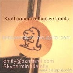 round kraft label