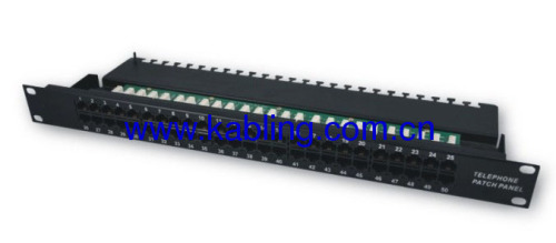 cat 3 50 Ports Voice Patch Panel Telephone
