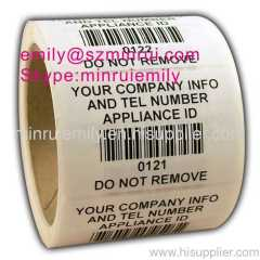 do not remove barcode labels