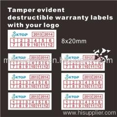 warranty void if damaged label