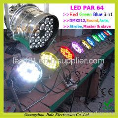 led par 64 light 3w tri led par 64 lighting led par 64 light