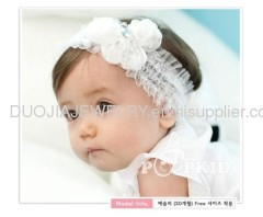 Handmade Lace Baby Headband Baby hair band with flower