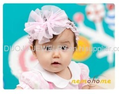 Fashion Lace Baby Headband Baby hair band with flower