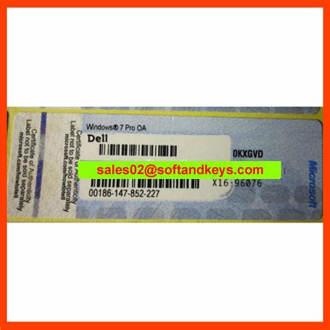 Win7 Pro COA Label Sticker License Key Card Dell HP Lenovo Toshiba