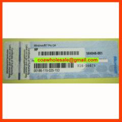 Windows7 Pro COA Label Sticker License Key Card X16