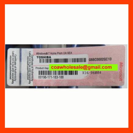 Windows7 Home Premium COA Label Sticker License Key Card X16