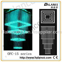Optic Fiber Chandelier
