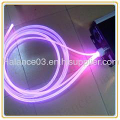Solid Side Glow Optic Fiber