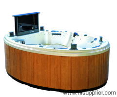 hot tub indoor spa with round
