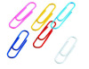 Colourful metal paper clip with plastic cover