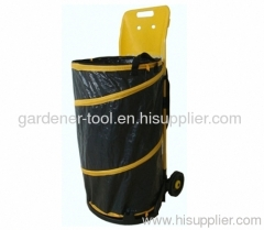 PE Garden Bag With Plastic Trolley for moving leaves