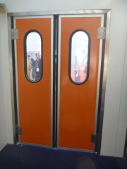 double acting swing doors with two door leaves