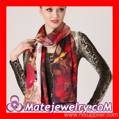 Red Silk Scarf For Women