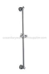 Stainless steel & brass sliding bar shower sets