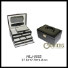 fashion black leather jewelry box
