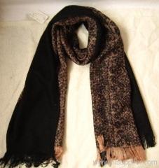 Acrylic woven winter scarf