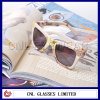 Woman's Accessory Sunglasses Wrap with Cloth Flower Patterned