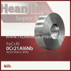 0Cr21Al6Nb Alloy Strip FeCrAl alloy Strip