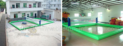 Popular Inflatable Volleyball Water Sports Park
