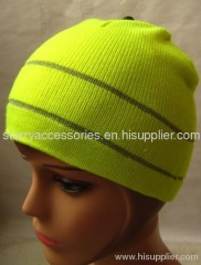 acrylic double layer knitted hat