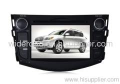 "7"" Toyota RAV4 double din car dvd player with bulit-in GPS bluetooth ipod RDS steering wheel control 2-zone"