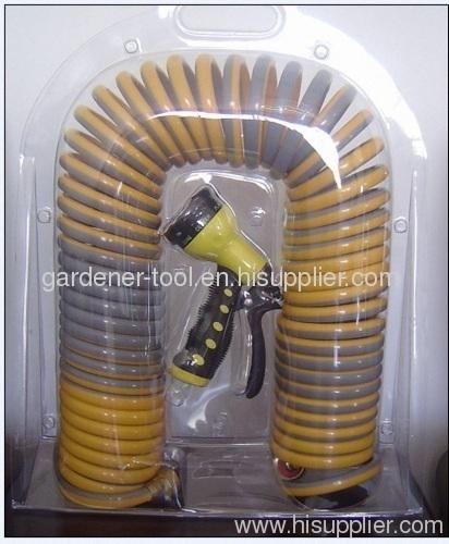 Double color garden water spring hose