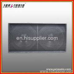 dual subwoofer wooden speaker cabinets