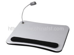 Single Color Lap Desk With Cushion And Light For Laptop Used