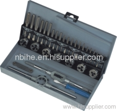 32PC DIN Series taps and dies Set, Alloy or HSS Steel Metal case packing