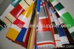 Both side stripe printed PVC tarpaulin
