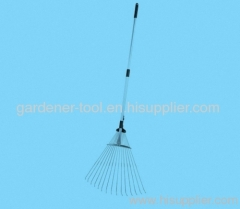 telescopic garden handle leaf rake