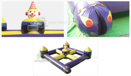 Clown Inflatable Haunted House Track Maze