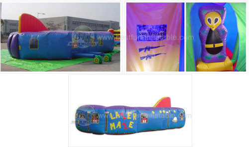 Laser Tag Arena Inflatable Tunnel Maze