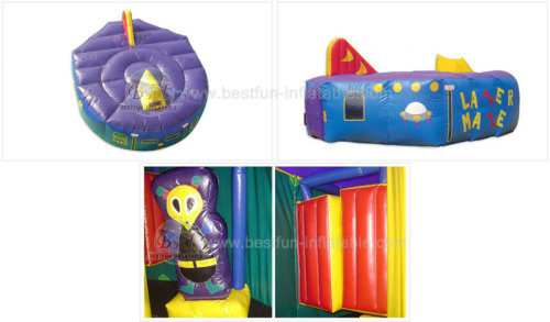 Halloween Haunted Inflatable Labyrinth Games