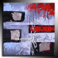 Modern textured abstract oil painting on canvas