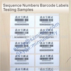 Custom Sequence Numbers of Adhesive Barcode Labels
