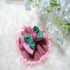 BYFJ1206 Flower with Bowknot Children hair clip/Hairpin