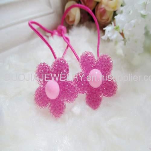HandmadeFashionChildren Hair accessories, Children Hair ornamentDBTS1201 Flower hair Rubber Band/Hair Elastic Band