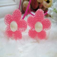 DBTS1201 Flower hair Rubber Band/Hair Elastic Band
