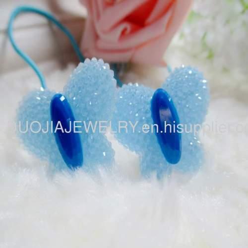 HandmadeChildren Hair accessories, Children Hair ornamentDBTS1202 ButterflyHair Rubber Band/Hair Elastic Band