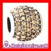 european 925 Sterling Silver Beige Swarovski Silver Crystal Beads